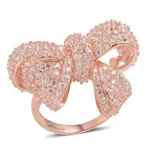 Rose gold now ring